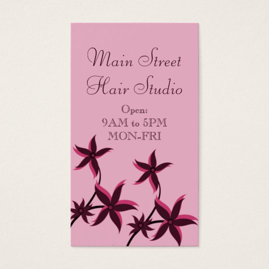 Tarjeta de visita floral ultramoderna, rosada