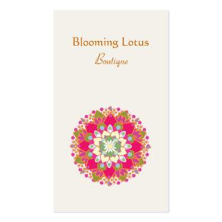 Tarjeta de visita floreciente de la flor de Lotus