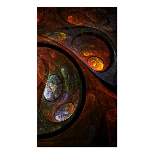 Tarjeta de visita flúida del arte abstracto de la
