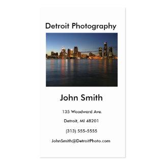 Tarjeta de visita, fotografía de Detroit