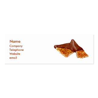 Tarjeta de visita frágil de cacahuete