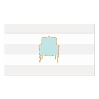 Tarjeta de visita francesa de la silla de las