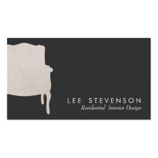 Tarjeta de visita francesa de la silla del diseño