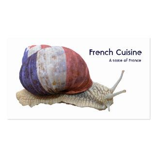 Tarjeta de visita francesa de la tienda de delicat