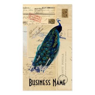 Tarjeta de visita francesa de las postales del pav