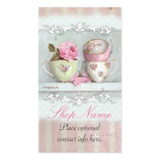 Tarjeta de visita francesa de las tazas de té