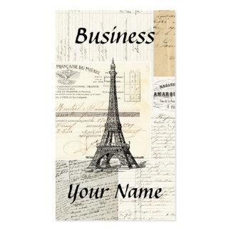 Tarjeta de visita francesa de París del vintage