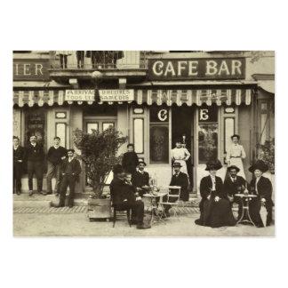 Tarjeta de visita francesa del café del vintage