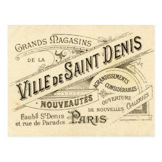 Tarjeta de visita francesa elegante lamentable