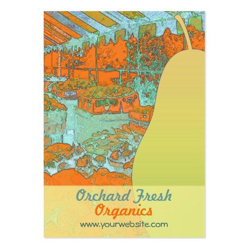 Tarjeta de visita fresca de la materia orgánica de