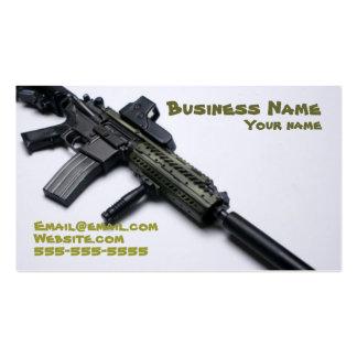 tarjeta de visita fresca de las armas de fuego del