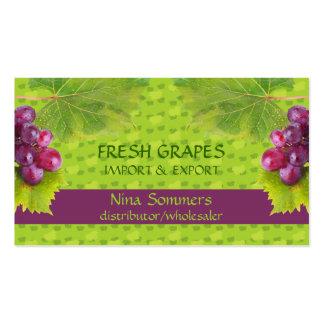 Tarjeta de visita fresca de las uvas