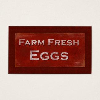 Tarjeta de visita fresca de los huevos