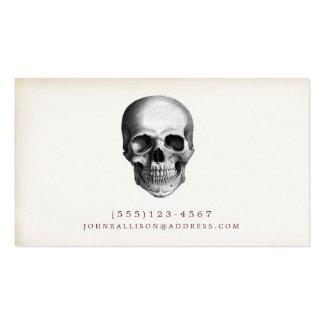 Tarjeta de visita fresca del cráneo del vintage 2