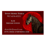 Tarjeta de visita frisia del caballo