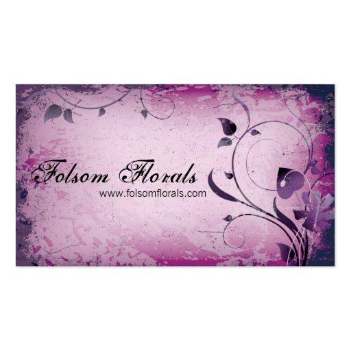 Tarjeta de visita frondosa del remolino del floris