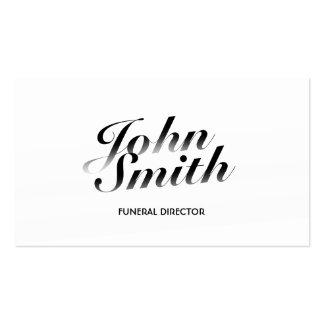 Tarjeta de visita fúnebre caligráfica con clase