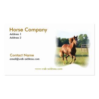 Tarjeta de visita galopante del caballo