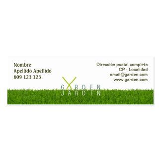 Tarjeta de visita Garden_jardín 76x25mm