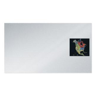 Tarjeta de visita/geología norteamericana tarjetas de visita