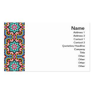 Tarjeta de visita geométrica islámica de la teja d