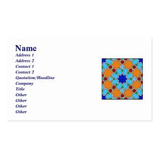 Tarjeta de visita geométrica islámica del modelo
