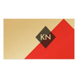 tarjeta de visita geométrica profesional de los