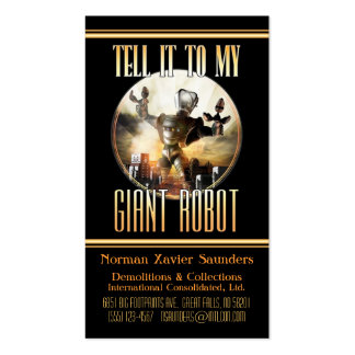 Tarjeta de visita gigante del robot
