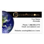 Tarjeta de visita global de Curatio