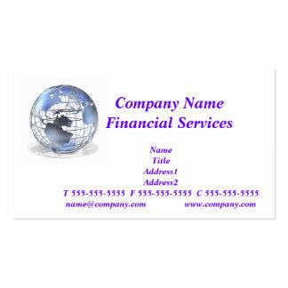 Tarjeta de visita global de los servicios financie