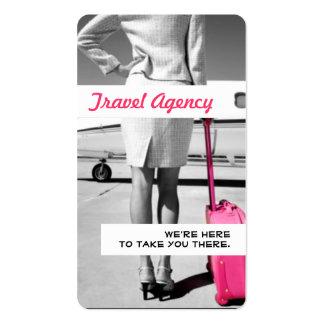 Tarjeta de visita global del agente de la agencia