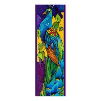 Tarjeta de visita gloriosa de la señal del pavo re