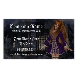 Tarjeta de visita gótica de la fantasía:: Púrpura