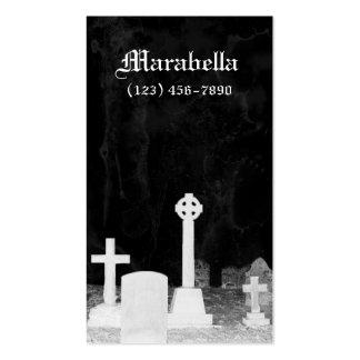 Tarjeta de visita gótica de las piedras sepulcrale