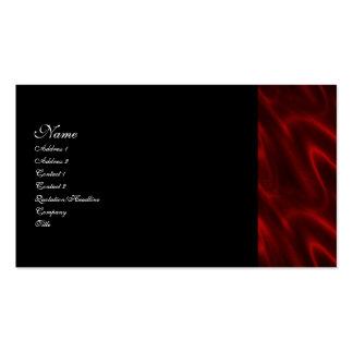 Tarjeta de visita gótica de seda roja