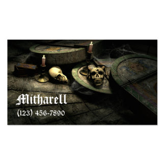 Tarjeta de visita gótica del ámbito de las muertes