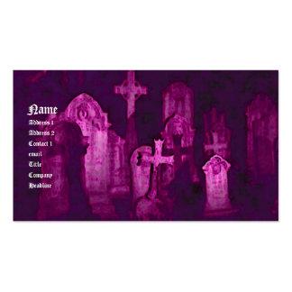 Tarjeta de visita gótica del cementerio
