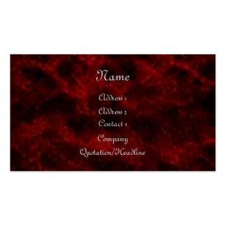 Tarjeta de visita gótica del terciopelo rojo