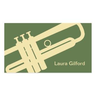 Tarjeta de visita gráfica de la trompeta