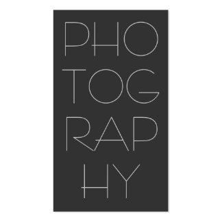 Tarjeta de visita gris contemporánea de la fotogra