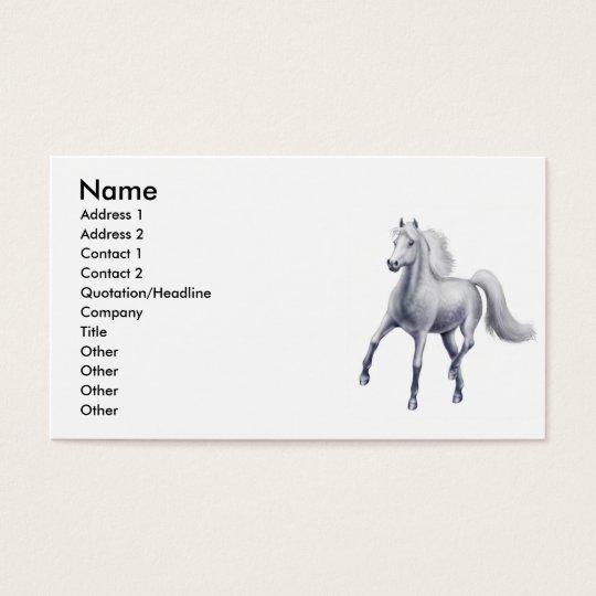 Tarjeta de visita gris Dappled del caballo