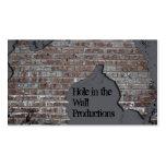 Tarjeta de visita gris de la pared de ladrillo