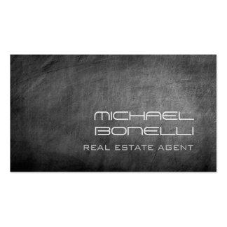Tarjeta de visita gris del agente inmobiliario de