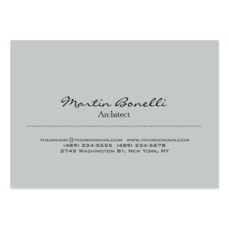 Tarjeta de visita gris elegante rechoncha de moda