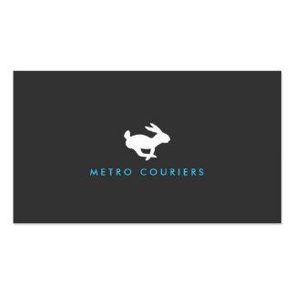 Tarjeta de visita (gris) rápida del logotipo del