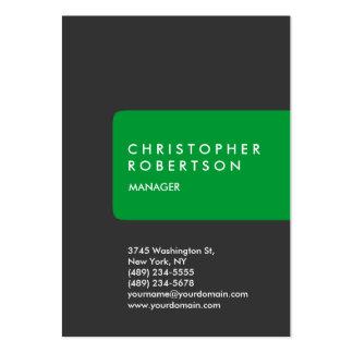 Tarjeta de visita gris verde rechoncha de moda ver