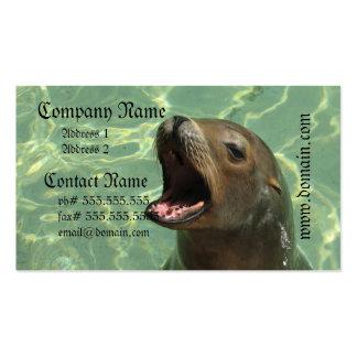Tarjeta de visita habladora del león marino
