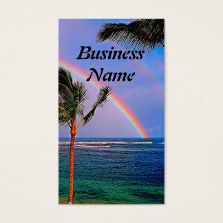 Tarjeta de visita hawaiana del arco iris