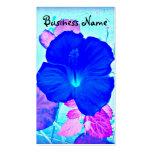 Tarjeta de visita hawaiana del arte del hibisco