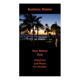 Tarjeta de visita hawaiana del destino